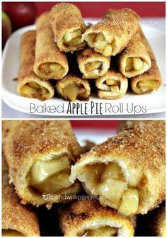 Apple Pie Roll Ups | 10 Appetizing Apple Pie Recipe Ideas by Pioneer Settler at pioneersettler.co...