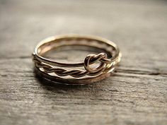 Stacking Rings 14k Gold Fill by AutumnEquinox on Etsy, $38.00