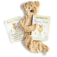 Slumberkins Gratitude Bundle- Honey Bear Silken Plush Honey Bear, Affirmation Cards, Baby List, Baby Must Haves, Book Gifts, Life Skills, Little Gifts, Gratitude, Plush