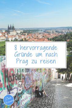 Erlebe Prag hoch über den Dächern vom Žižkov Tower, beobachte Männer, die auf die Tschechische Republik urinieren und lerne die farbenfrohe Jerusalemsynagoge kennen.  #städtereise #prag #prague