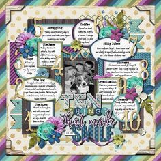 Ten things that make me Smile - Sweet Shoppe Gallery Dog Organization, Team Page, Silly Jokes, How To Find Out, How To Make, Make Me Smile, Digital Scrapbooking, Bullet Journal, Gallery