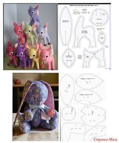 This cute diy stuffed deer sewing pattern is a must-sew! It's not that hard to make; perhaps just takes a bit more time than an easy stuffedanimalpattern. If you have a little more than basic sewing skills, you can sew th Plushie Patterns, Animal Sewing Patterns, Sewing Patterns Free, Doll Patterns, Sewing Stuffed Animals, Stuffed Animal Patterns, Sewing Crafts, Sewing Projects, Teddy Bear Sewing Pattern