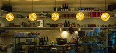 Cafe I Restaurant  I Interior I Etch Light Lighting by Tom Dixon Restaurant in Berlin: Mogg & Melzer (10117 Berlin - Mitte)