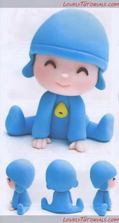 Birthday cake fondant boy awesome 68 Ideas for 2019 Fondant Toppers, Fondant Cakes, Cupcake Cakes, Fondant Baby, Cake Topper Tutorial, Fondant Tutorial, Clay Projects, Clay Crafts, Cake Templates