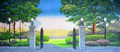 We offer scenic backdrop rentals for theaters, schools, dance recitals, events and more with hand painted backdrops, scenic projections and custom designs for rent or purchase. Castle Backdrop, Banner Backdrop, Mary Poppins Halloween, Mary Poppins Musical, Halloween Backdrop, Affordable Art Fair, Digital Image, Scenery, Park