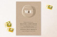 The Big Day Wedding Invitations by R studio at minted.com