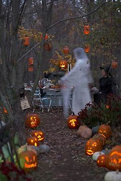 ghostly path in the woods #halloween