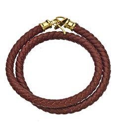 Jacqueline Pinto Burgundy Braided Leather Wrap Bracelet #maxandchloe