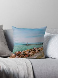 'By the lake' Throw Pillow by godolilla Framed Prints, Canvas Prints, Relaxing Day, Designer Throw Pillows, Pillow Design, Sell Your Art, My Design, Finding Yourself, Photo Canvas Prints