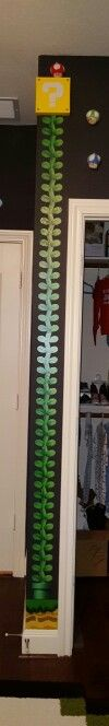 Super Mario nursery - This vine will be used as Hudson's growth chart