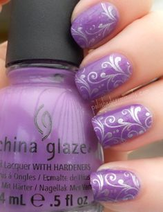 "Day 6 - Violet Nails => SOURCE: @Iris Loos White Hamilton ""Nails and Style .ME"" Board via."