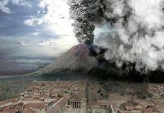 O Monte Vesúvio, na costa oeste da Itália, é o único vulcão ativo da Europa continental. Ele é mais conhecido por causa da erupção em 79 DC, que destruiu a cidade de Pompeia.