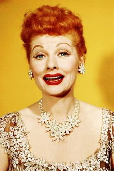 Lucille Ball---that necklace is coming back! We sell one extremely similar at my store! Crazy!