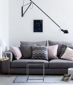 Farben grau und blassrosa