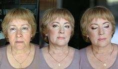 Возрастной макияж - до и после