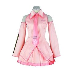 Mtxc Women's Vocaloid Cosplay Costume Sakura Miku 1st ($66) ❤ liked on Polyvore featuring costumes, ladies halloween costumes, cosplay costumes, lady costumes, womens halloween costumes and pink ladies halloween costume