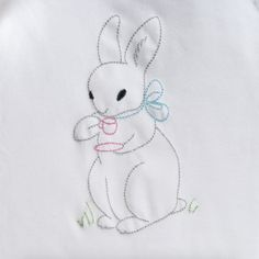 Vintage Tea Time Bunny - Hang to Dry Applique
