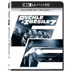 Blu-ray Rychle a zběsile 7, Fast & Furious 7, UHD + BD, CZ dabing | Elpéčko - Predaj vinylových LP platní, hudobných CD a Blu-ray filmov Fast And Furious, Blues, Polaroid Film
