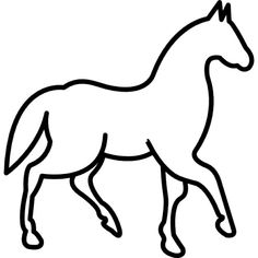 Walking horse with one foot lifted Free . Coloring Pictures Of Animals, Rooster Silhouette, Glass Etching Stencils, Animal Outline, Diy Snow Globe, Horse Coloring Pages, Walking Horse, Quilting Stencils, Horse Logo