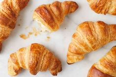 Croissant is a French crescent-shaped roll made of sweet flaky yeast dough, eaten for breakfast or brunch. The viennoiserie is much appreciated in Mauritius. King Arthur Flour, Profiteroles, Instant Yeast, Cupcakes, Creme Brulee, Baking Sheet, Melted Butter, Cookies Et Biscuits, Oven