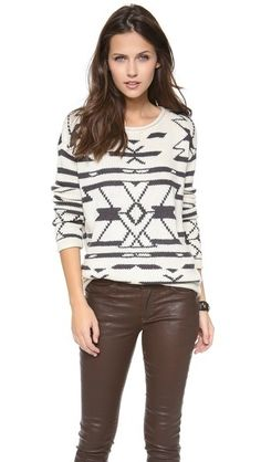 Sun Valley Sweater by Townsen // geometric navajo patterns
