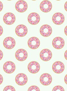 Pink Frosted Donuts w/Sprinkles Wallpaper ♡♡♡