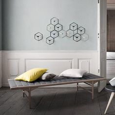 Did you know that the daybed is the predecessor of the sofa? That's definitely interesting considering the fact that daybeds are a relatively new addition Iron Candle Holder, Candle Holders Wedding, Wall Candle Holders, Lantern Table Centerpieces, Vases, Modern Daybed, Daybed Design, Iron Wall, Metal Walls