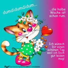 Grüße zum Morgen & zum Tag German Language, Good Morning, Cartoon, Spirituality, Painting, Beautiful Morning, Good Morning Wednesday, Good Day, Hello Friday