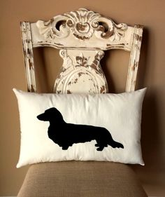 This Dachshund throw pillow is perfect for all those doxie lovers out there...like me :) This pillow definitely will add some character to