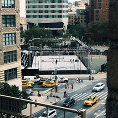 Check out Sid Lee NYC office window view today: opened Nike temporary court at the northeast corner of Canal and Varick!