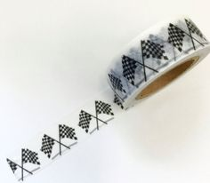 Checkerd Flag Road Race Track Washi Tape by PlayingWithColor2
