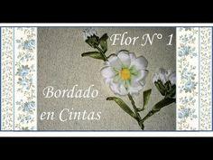 Toalla bordada en cintas ♥ Girasol ♥ Parte 3/4 - YouTube