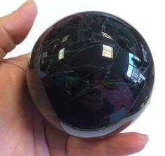 Spiderweb Obsidian crystal ball Crystal Shop, Crystal Ball, Crystal Healing, Balls, Minerals, Spirit, Rainbow, Crystals, Stone