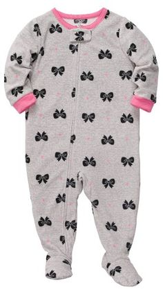 Carter's Baby-Girls Infant Microfleece Sleep and Play Gre. Baby Girl Pajamas, Carters Baby Girl, My Baby Girl, Baby Love, Toddler Girl, Baby Girls, Little Girl Fashion, Kids Fashion, Outfits Niños