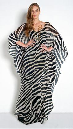 Zebra Print Kaftan, Cruise 2014