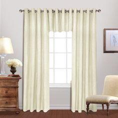 United Curtain Hamden Grommet Curtain Panel Ivory - HAM84IVO