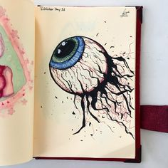 Inktober Day 26 (Eye of Cthulhu) #art #design #drawing #draw #artist #artwork #artistsoninstagram #ink #inktober #inktober2017 #illustration #conceptart #traditionalart #sketchbook #terraria #fanart #eyes