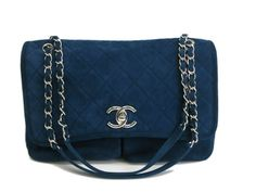 #Chanel Matrasse Chain Shoulder Bag Nubuck Navy(BF064980). eLADY global accepts returns within 14 days, no matter what the reason! For more pre-owned luxury brand items, visit http://global.elady.com
