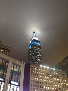 Chanukah Empire State lights