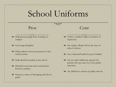 uniform dress code essay