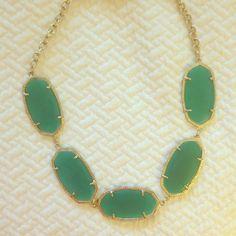 "Spotted while shopping on Poshmark: ""Kendra Scott Valencia Necklace in Green ONYX""! #poshmark #fashion #shopping #style #Kendra Scott #Jewelry"