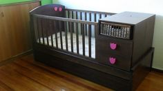 crib that becomes a bed w/ a trundle bed underneath too...