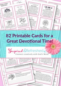 Spending even 15 minutes in devotional quiet time makes such a huge difference in how I feel. These cards help me have a more focused prayer and study time for when I'm stressed out and need peace. #inspiredandrefreshed #biblestudy #devotional
