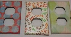 Mod Podge+Craft paper+Outlet covers= Fun little way to brighten a room! Gotta try this.