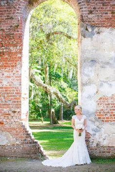 Old Sheldon Church Ruins Bridal Portrait Session // Dana Cubbage Weddings // Charleston SC Wedding Photography