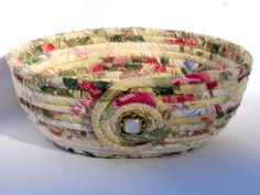 Victorian Styled Coiled Fabric Bowl