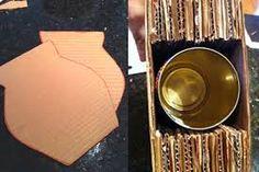 Resultado de imagem para jarros feitos de papelão