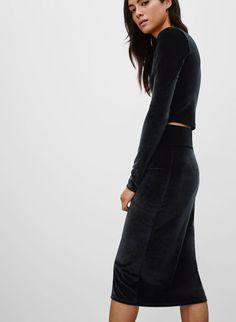 a98a13f0135c BELA SKIRT | Aritzia Velvet Skirt, Going Out Outfits, Minimal Chic, Casual  Wear
