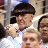 Pat Riley Shows Up To NBA Finals In Signature Bowl Cut