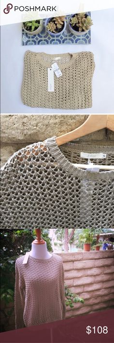 """🔴BOGO🔴LF Open Weave Sweater Brand new with tags! Millau brand for LF open weave sweater. Color-Oatmeal. 100% Cotton. Great for throwing over a tank top or dress when that warm summer day turns chilly after sunset! 24.5"""" length. 20"""" flat bust measurement. This sweater is unbelievably soft! Everything in my closet is Buy One Get One Free for a limited time! Take advantage of this amazing sale while you can. LF Sweaters Crew & Scoop Necks"""